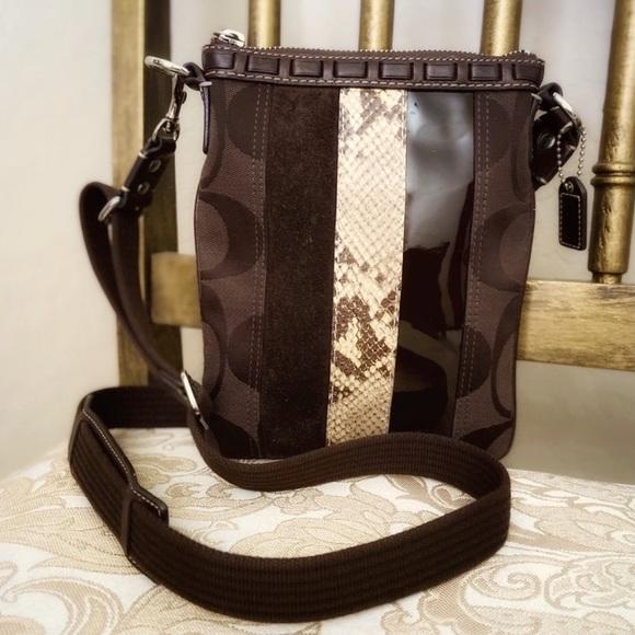 ⭐️COACH Crossbody - Suede, Python, Patent Leather